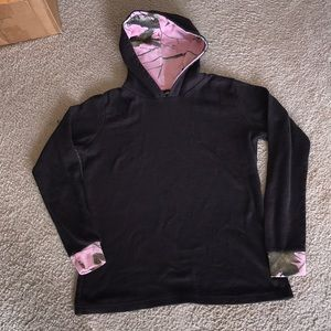Real tree pink camo pullover
